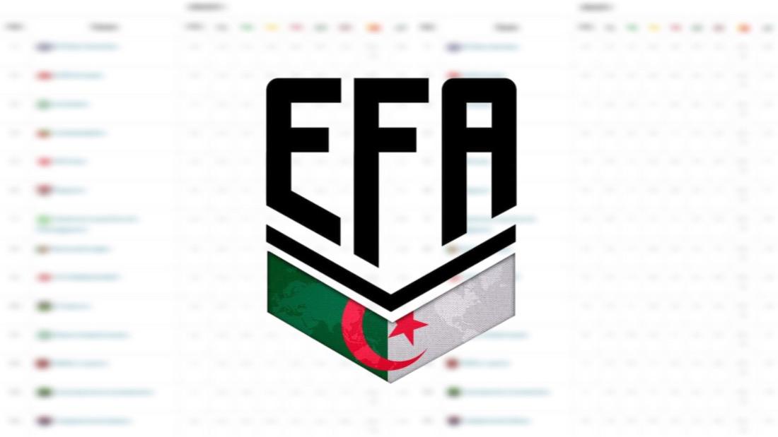 اخر مستجدات الدوري الجزائري الإلكتروني للأندية المحترفة